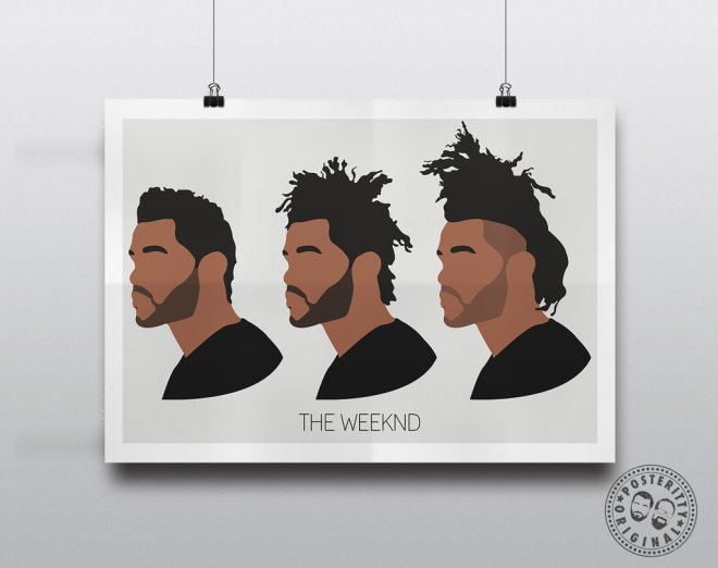The Weeknd evolution of hair